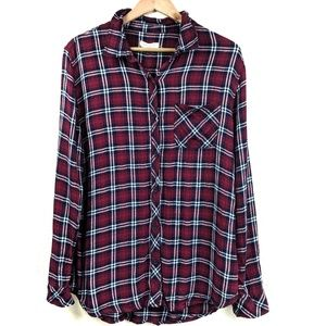 Beachlunchlounge Soft & Cozy Red Plaid Flannel F8